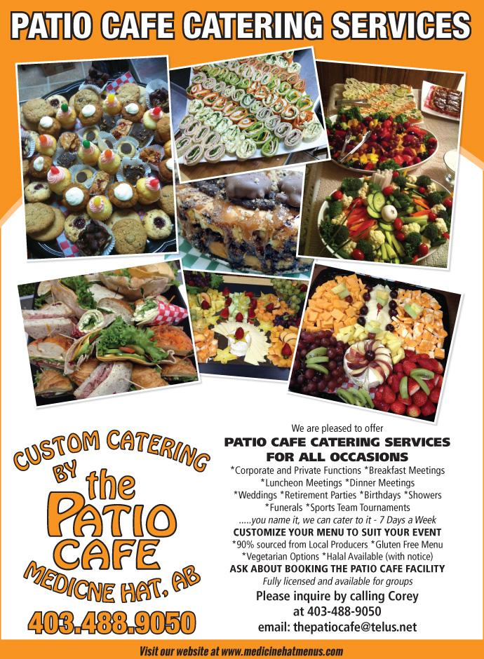 The Patio Café – Medicine Hat Menus