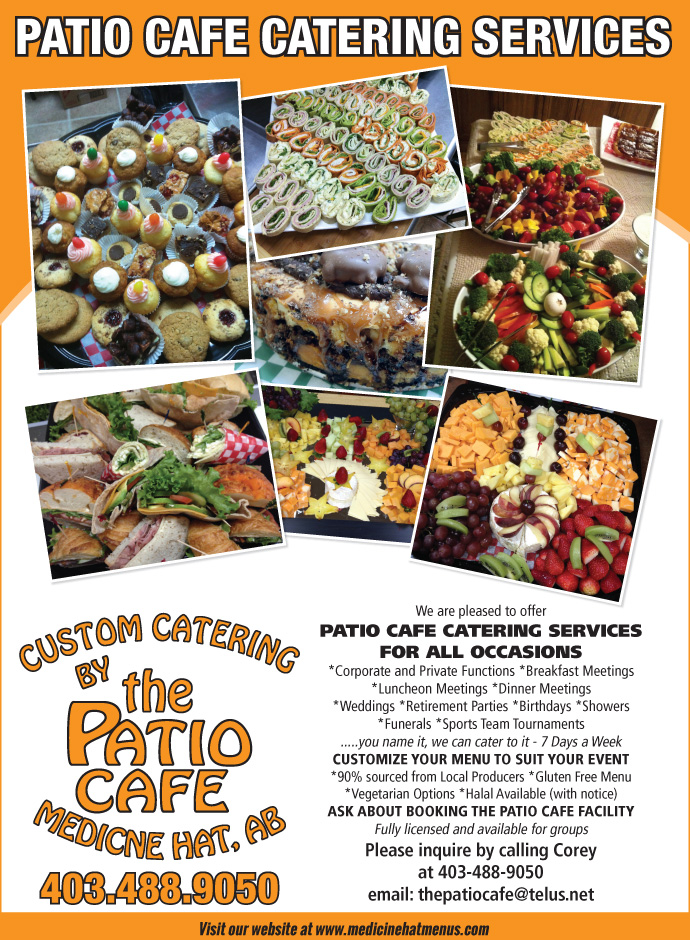 The Patio Cafeu0027s Catering Menu